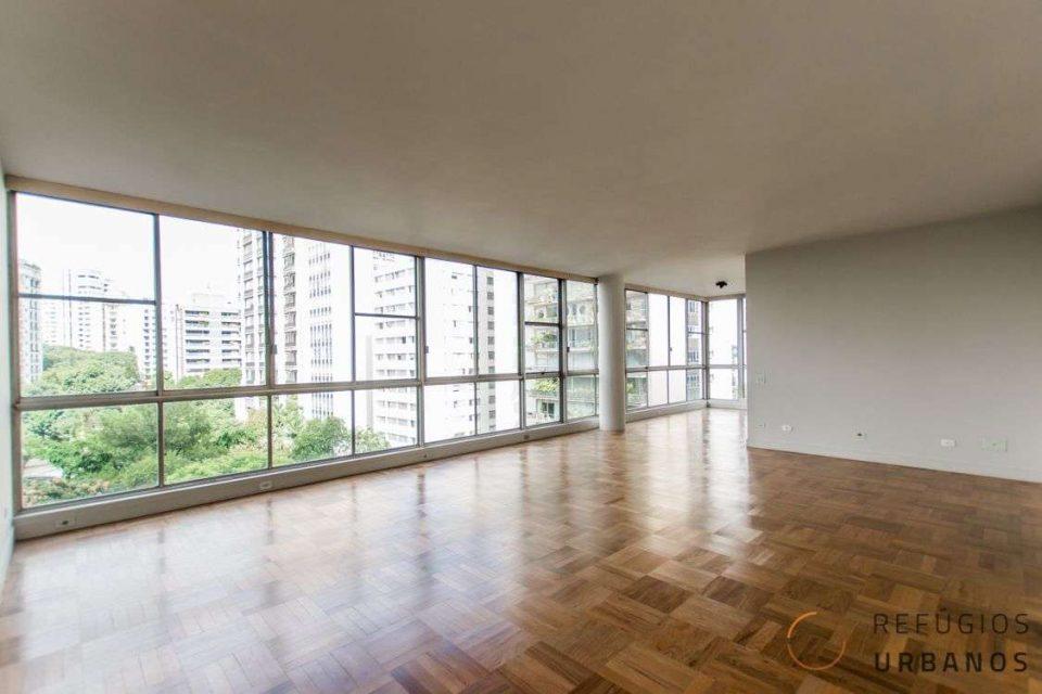 Apartamento em Higienopolis, com vista incrível para o Parque Buenos Aires, em 385m2 de área últil, 2 suites e duas vagas.