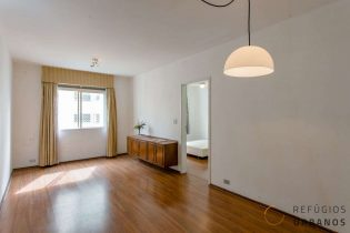 Apartamento de 52m2, um dormitório e um super potencial de reforma na Frei Caneca, perto do metrô Higienópolis-Mackenzie da linha amarela