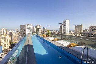 Studio de 33m2, pronto para morar, em andar alto e cheio de charme, no Edifício ícone contemporâneo do Largo do Arouche, na Republica.