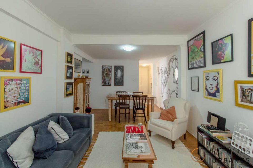 Apartamento na Republica de 104m2 com 3 dormitórios, 1 vaga de garagem, pronto para morar com muita luminosidade e vistas lindas para o centro de São Paulo.