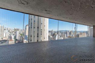 Studio no Copan: vista livre pra cidade e muito potencial