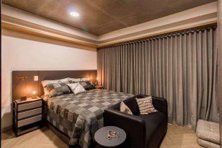 Studio de 30m2, em andar alto, prontíssimo para morar, super acolhedor e confortável, no Edifício ícone contemporâneo do Largo do Arouche, na Republica.