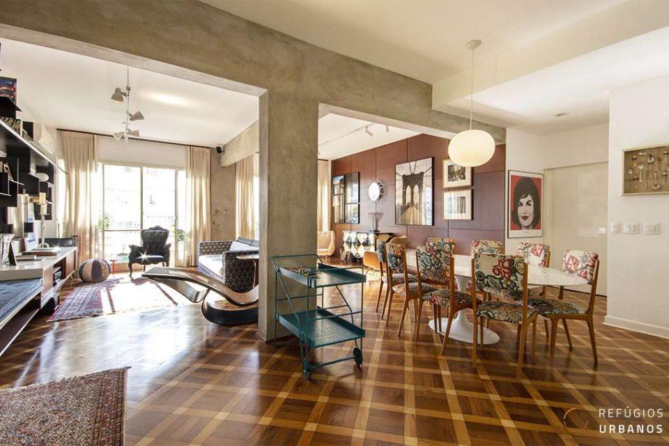 Apartamento em Higienopolis, totalmente reformado, com 200m2, 3 dormitórios, sendo uma suite e uma vaga em edifício assinado por Alfred Duntuch.
