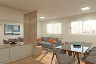 Moema Pássaros, apartamento com 83 m2, cozinha americana, 2 quartos, 1 banheiro, lavabo, 1 vaga. Reformado pronto para morar.