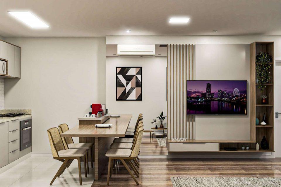 Vila Nova Conceição, apartamento com 76 m2, 1 suíte, 2 vagas. Cozinha americana. Lavabo. Super Varanda. Reformado. Excelente localização.