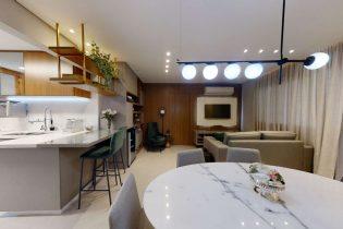Vila Olímpia, apartamento reformado com 105 m2, com planta moderna, cozinha americana e muitas janelas. Semi-mobiliado. 3 quartos/1 suíte com closet. 1 vaga.