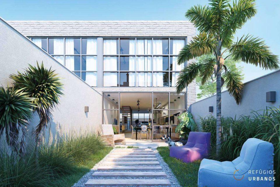 Tranquilidade em rua residencial, no Alto de Pinheiros, em casa moderna e recém construída com 180m² de área útil, 3 dormitórios e 2 vagas