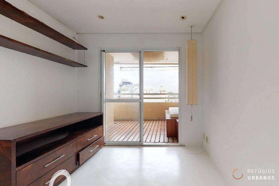 Apartamento de 63m² com dois quartos e 2 vagas, em edifício com lazer, no pedacinho mais charmoso da Rua Dr. Virgilio de Carvalho Pinto