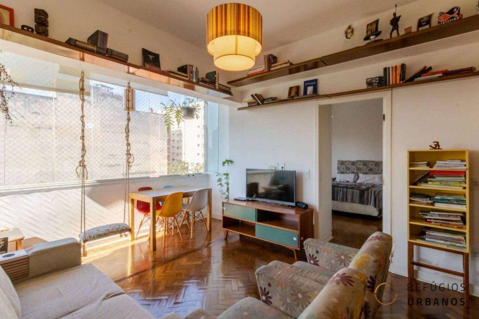 Apartamento de 69m2 na Consolação com dois dormitórios, sendo uma suíte em predinho antigo, cheio de charme em uma super localização, perto do metrô