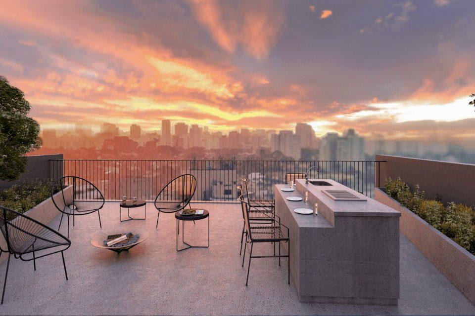 Brooklin, uma super localização, apartamento com 35m2, planta super inteligente, 1 quarto, cozinha integrada, varandinha. Predinho super charmoso. Sem vaga.