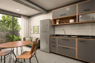 Brooklin, uma super localização, apartamento tipo garden com 50m2, planta super inteligente, 1 quarto, cozinha integrada. Predinho super charmoso. Sem vaga.