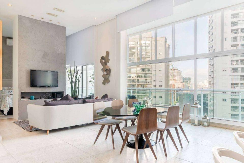 Loft com projeto arquitetônico sofisticado na região da Avenida Paulista
