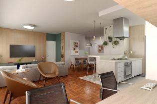 Apartamento em Higienopolis reformado com 125 m2, sala ampla, 2 suítes, 1 vaga de garagem, perto da praça Buenos Aires.