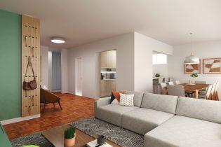 Apartamento em Higienopolis reformado com125 m2, sala ampla, cozinha integrada, 2 suítes, 1 vaga de garagem, perto da praça Buenos Aires.