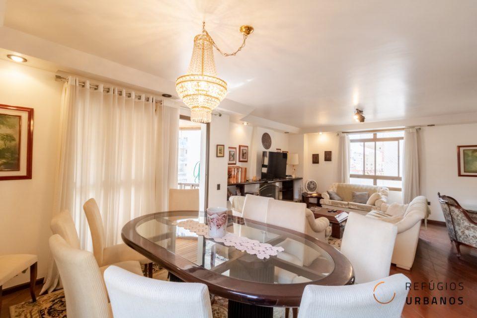 Apartamento em Santa Cecilia com 240 m², sala ampla, 3 suítes com varanda, próximo ao Shopping Pátio Higienopolis.